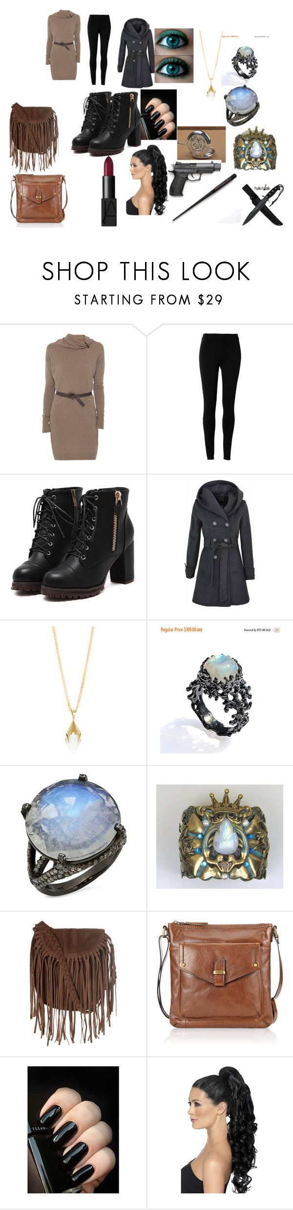 """Fem!harry"" by moonyandsunny-jm on Polyvore featuring Rani Arabella, Max Studio, Dean Davidson, Bavna, Glamorous, M&S Collection and NARS Cosmetics"