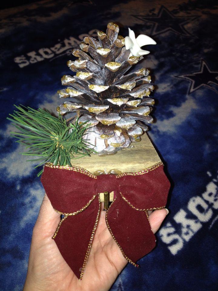 Handmade rustic stocking holder for mantle.