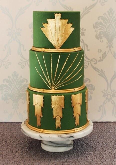 Art Deco Cake Decorations :