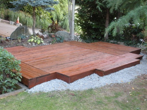 1000 images about floating deck on pinterest patio for Deck landscape design
