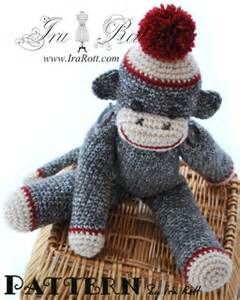 crochet sock monkey free patterns - Yahoo Image Search Results