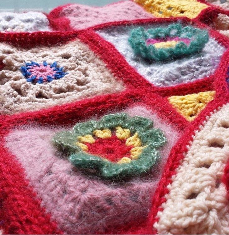 Granny rug closeup