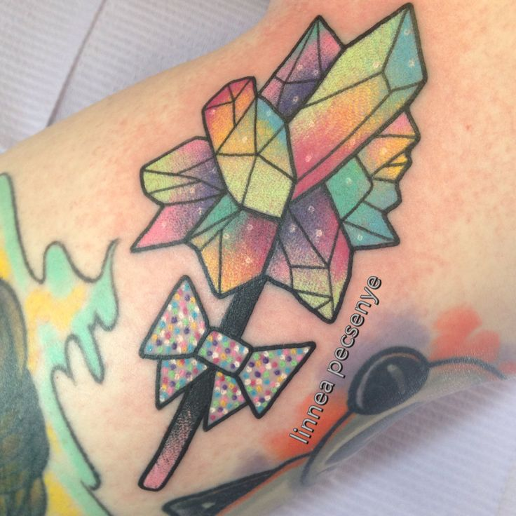 Rock Candy Crystal Tattoo by Linnea Pecsenye @linneatattoos in Asheville, NC