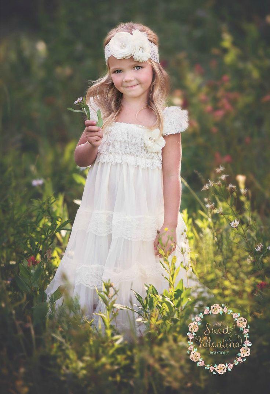 Ivory Lace Flower Girl Dress, Vintage Flower Girl Dress, Shabby Chic Flower Girl Dress,Rustic Flower Girl Dress,Ivory lace flower girl dress by SweetValentina on Etsy https://www.etsy.com/listing/266790742/ivory-lace-flower-girl-dress-vintage