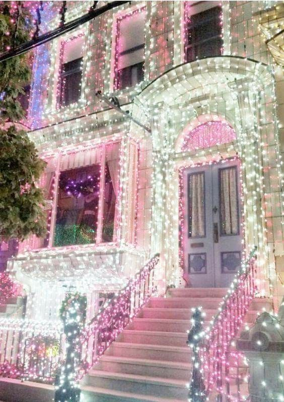 390 best christmas lights images on pinterest christmas houses pink and green aloadofball Images