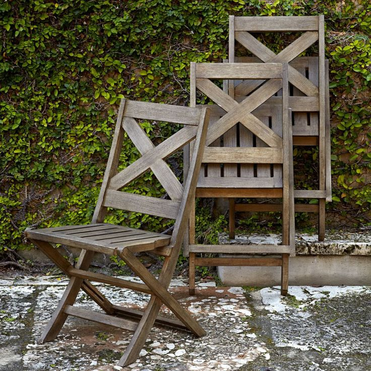 jardine folding wooden outdoor chairs from west elm