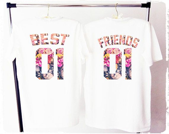 BEST FRIENDS shirts bff shirs best friends tee besties
