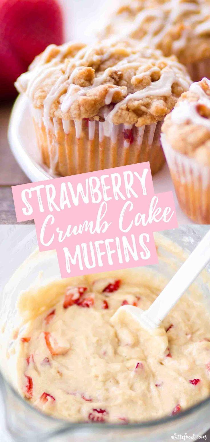 Ces muffins faits maison de gâteau aux fraises et aux fraises sont incroyablement …   – Muffins, Doughnuts, and Scones