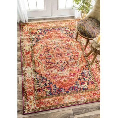 Mackenzie Orange Area Rug