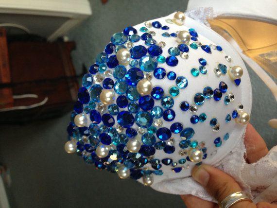 Blue jewel Rave bra