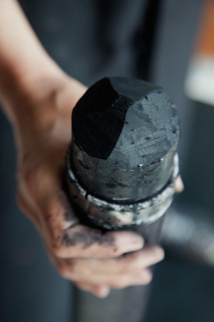Mark-making tool: big chunk of charcoal (Fabienne Verdier)