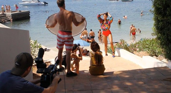 Branding: Filming in Ibiza to produce a promotional video for a London agency MOT Models..Self-shooting video producer http://vsitv.net/importance-choosing-right-video-producer/