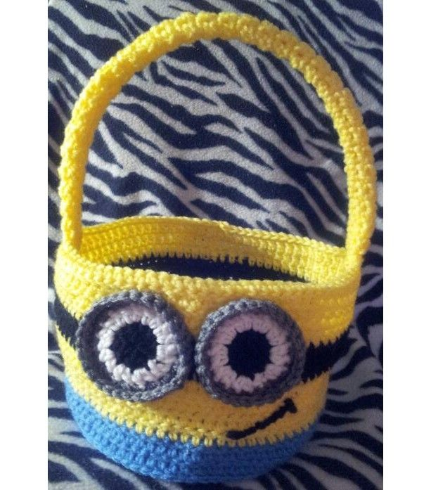 crochet minion basket halloween easter trick or treat easter bunny dispicable me