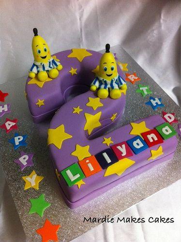 Bananas in Pyjamas Cake  www.facebook.com/MardieMakesCakes
