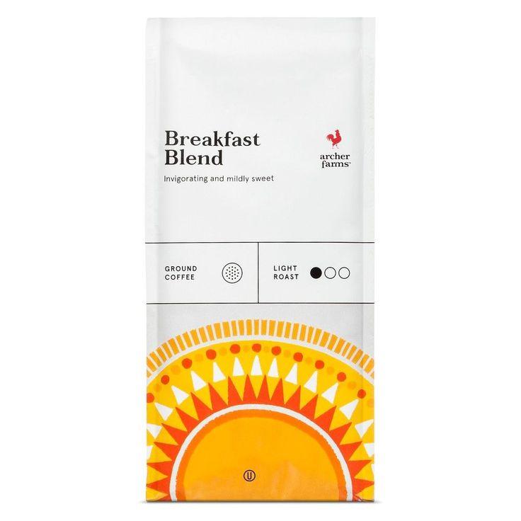Breakfast Blend Light Roast Ground Coffee - 12oz - Archer Farms