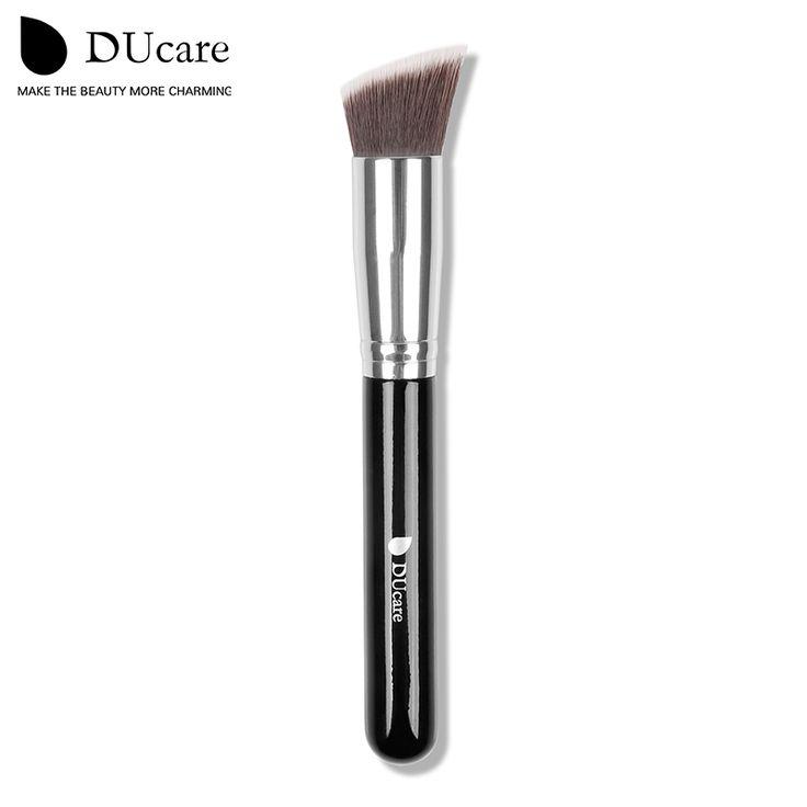 Ducare cosmetico professionale make up powder foundation brush blush angolato flat top liquido base trucco cosmetico strumento pennello