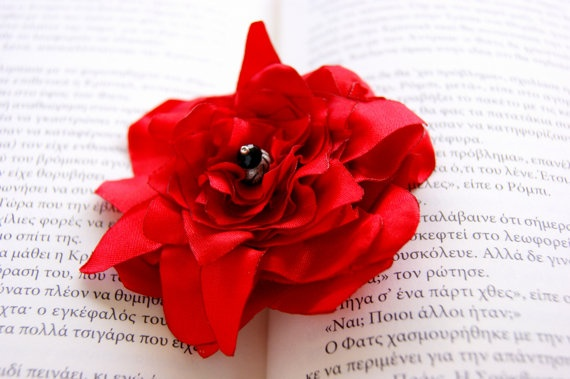 Valentines day gift   Poinsettia brooch by RenatasArt on Etsy, €8.00
