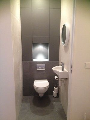 25 best ideas about am nagement wc on pinterest deco wc for Salle de bain dans un placard