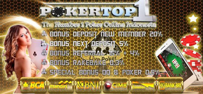 Bandar Situs Poker Uang Asli Indonesia Pokertop1
