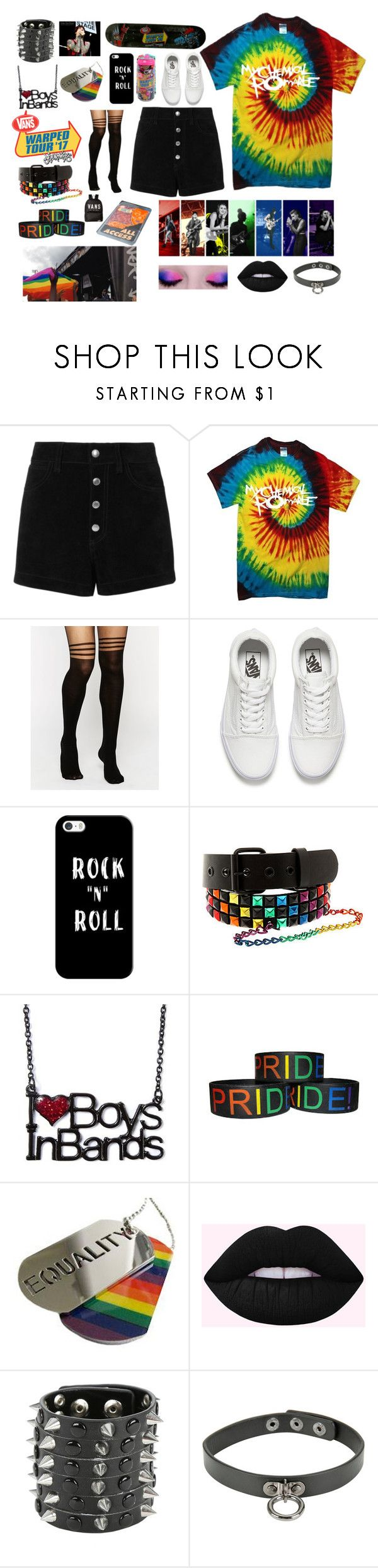 """""""Warped tour pride!"""" by pastel-punk-princess-of-night ❤ liked on Polyvore featuring rag & bone/JEAN, ASOS, Vans, Casetify and ADAM"""