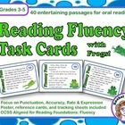 Use these 40 fluency task cards to help your students with their oral reading. Each card features an entertaining short passage for students to rea...