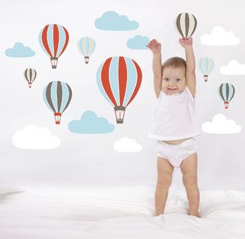 Väggdekor Luftballonger och Moln i gruppen Alla Artiklar hos HouseofHedda.com (ommDekorLuftballonger)
