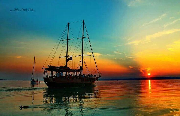 Puesta de sol-Lago Balaton