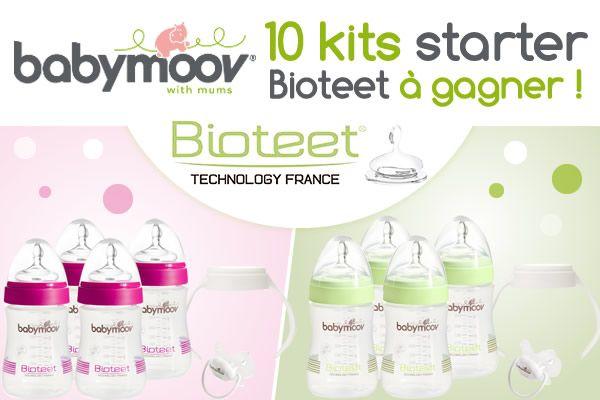 10 Starters Kits de biberons Bioteet Babymoov à gagner chez @Allo Bibiébé