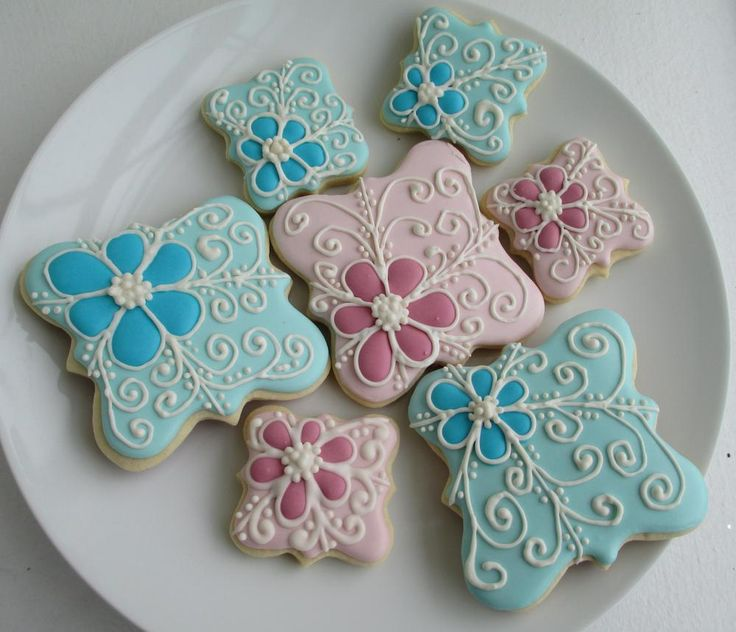 pink and teal cookies | Cookie Connection
