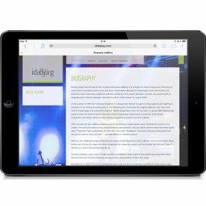 idaBjörg responsive website. By byDesign