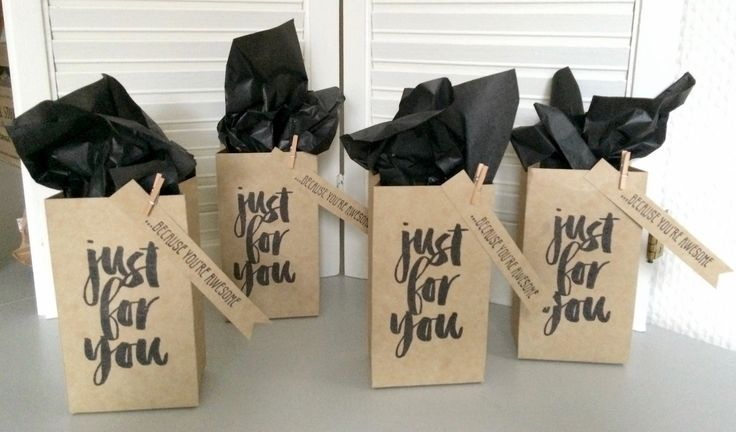 Just for you ... because you're awesome - Stampin' Up! gift bag punch board