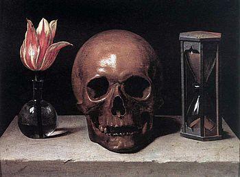Ванитас— жанр живописи эпохи барокко, аллегорический натюрморт, композиционным центром которого традиционно является человеческий череп символизирующий быстротечность жизни, тщетность удовольствий и неизбежность смерти.