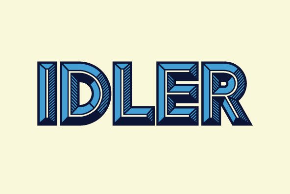 Idler is an all caps, modular display typeface meant to be used for big, bold lettering.