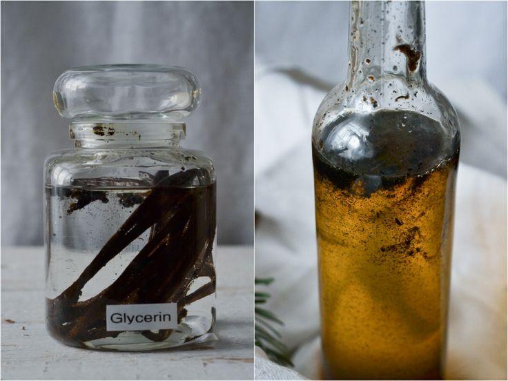 Hausgemacht, selbstgemacht, Vanille, Extrakt ohne Alkohol, Vanilleextrakt, Glycerin,