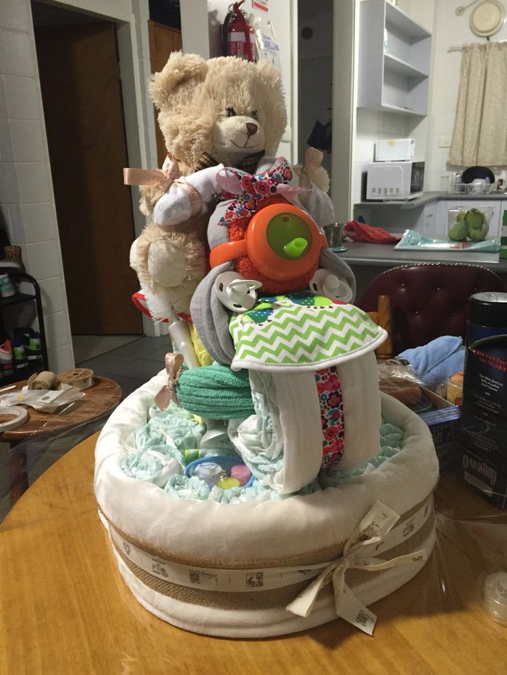 Unknown sex nappy cake