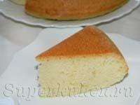 Пышный ванильный бисквит для торта