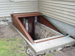 15 best images about cellar doors on pinterest for Exterior basement access doors
