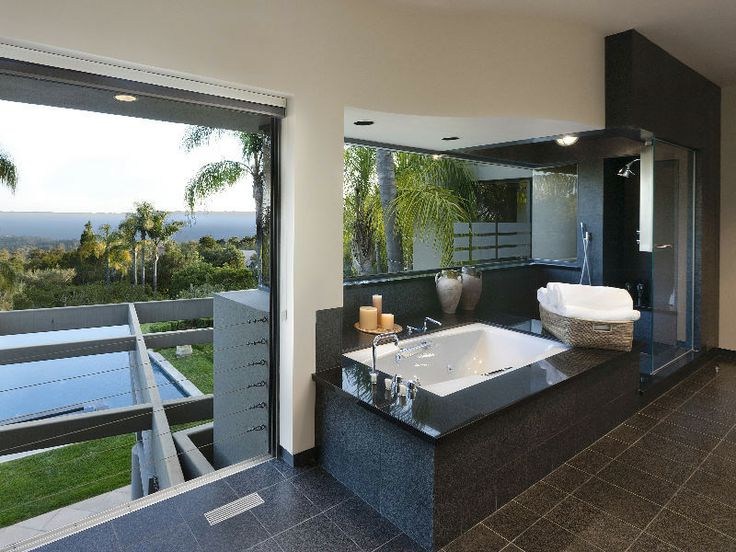 Director Michael Bay's Santa Barbara House - master bath - nice I'd say his home is on the market - probably time for a cool upgrade