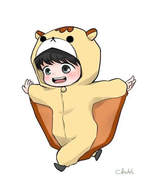 Baekhyun the Flying Squirrel