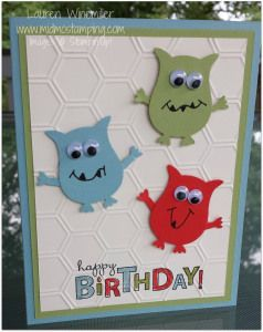 Owl builder punch ... cute birthday cards for little boys!
