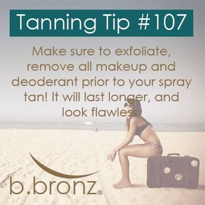 #spraytan tips! Make sure to check out the latest from B.Bronz Sunless at www.bebronze.com