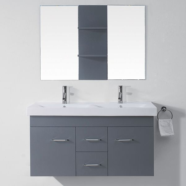 bathroom vanity double sink 48 inches virtu usa opal 48 inch grey sink vanity set by 24993