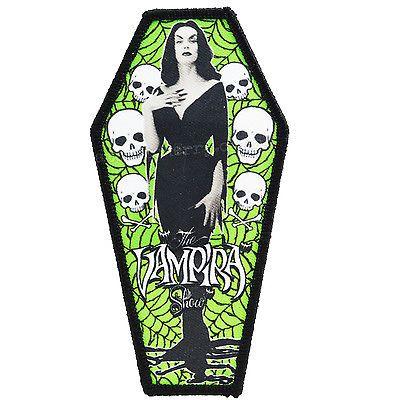 Kreepsville 666 Vampira Coffin Patch Tattoo Rockabilly Punk Retro Zombie Horror