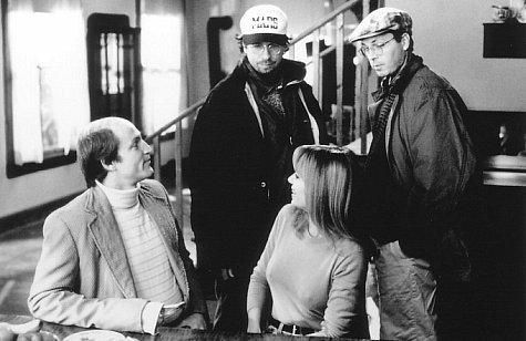Woody Harrelson, Vanessa Angel, Bobby Farrelly and Peter Farrelly in Kingpin (1996)