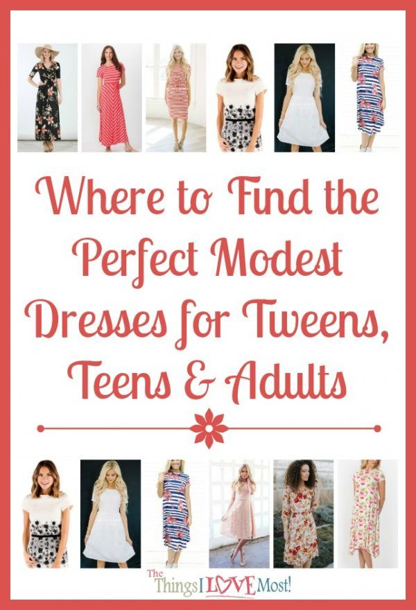 Where to Find the Perfect Modest Dresses for Tweens, Teens & Adults