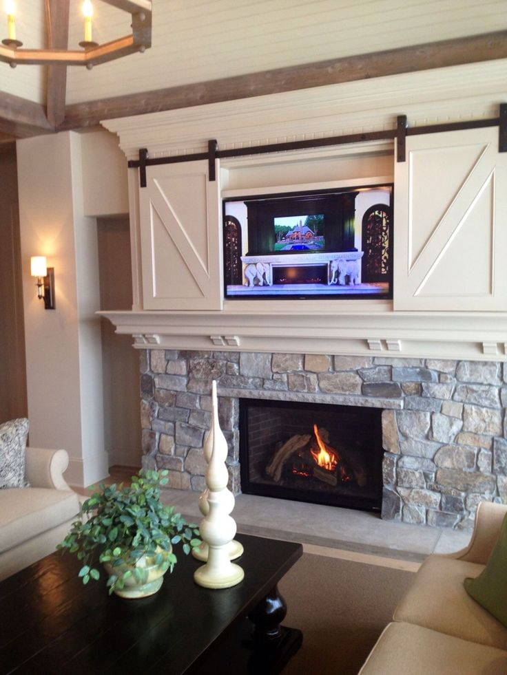 Living Room Entertainment Center/ Fireplace