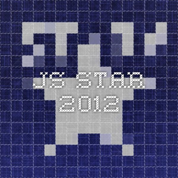 js-STAR 2012