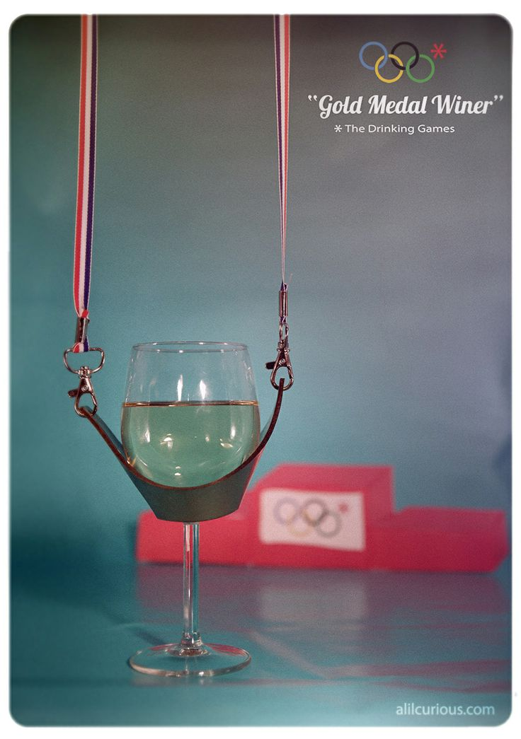 Olympics Cocktails Gold Medal Winer Wine Yoke