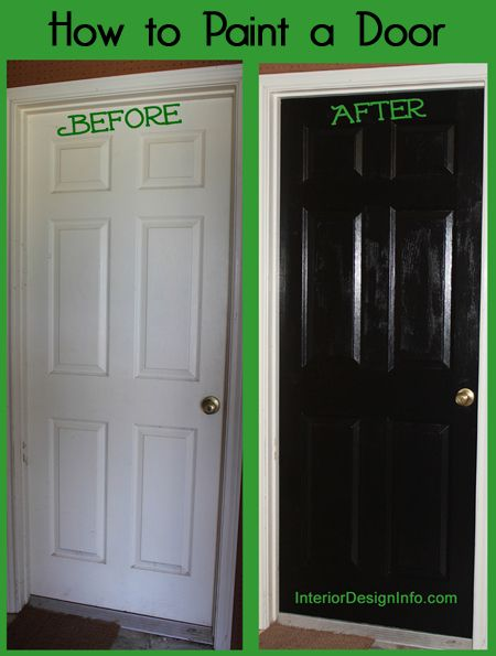 home improvements black doors interior doors how to paint tips and. Black Bedroom Furniture Sets. Home Design Ideas