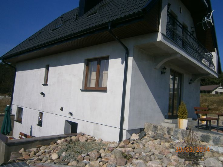Elewacja tylna  #projekt #dom #budowa